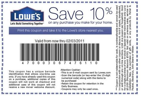 25 best ideas about lowes 10 coupon on
