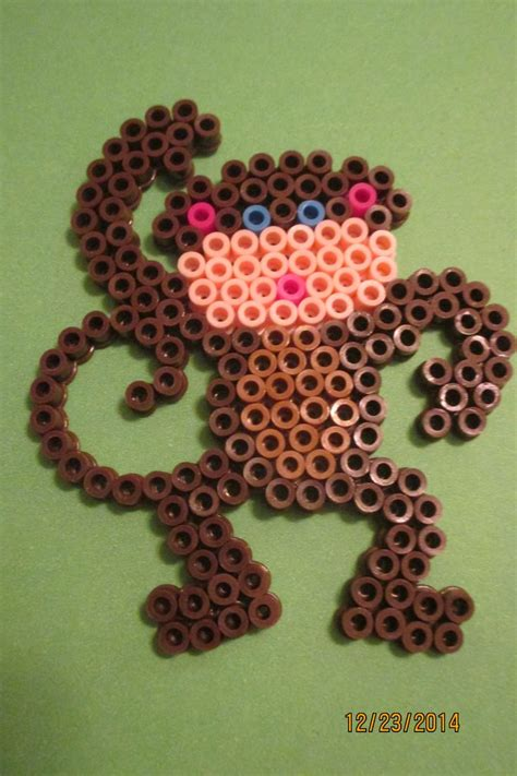 bead monkey 117 best images about perler patterns on