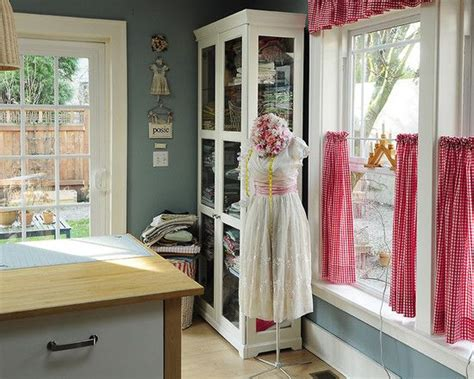 sewing room curtains sewing and craft rooms design pictures remodel decor