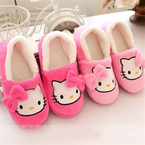 childrens bedroom slippers 2016 winter women slippers cartoon hello kitty slippers