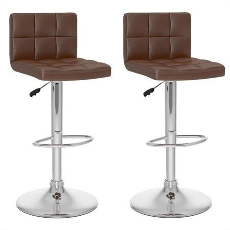 High Back Bar Stools Walmart by Atlin Designs 32 Quot High Back Bar Stool In Brown Set Of 2
