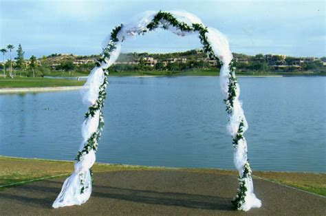 Wedding Arbor With Tulle decorating a wedding arbor with tulle how to decorate a