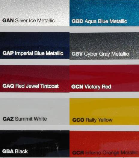 official 2010 camaro paint colors released