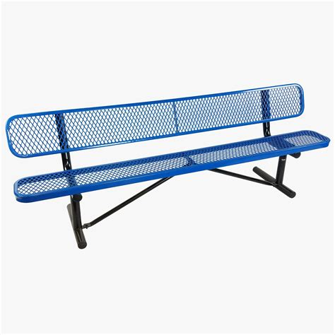 rubber bench bench expanded mesh rubber coated blue 97 air