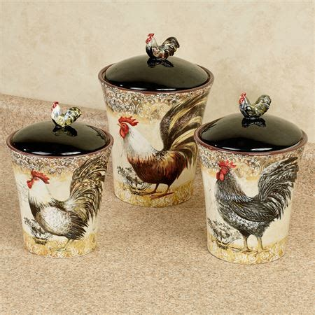 rooster kitchen canisters vintage rooster kitchen canister set