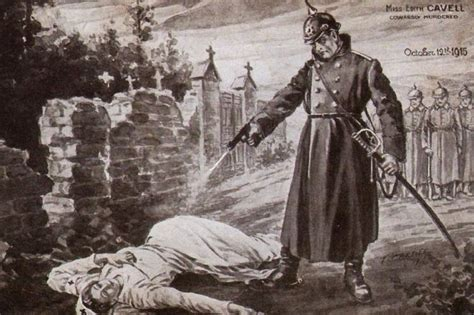 all about britain eso1 germans execute british nurse the great war project