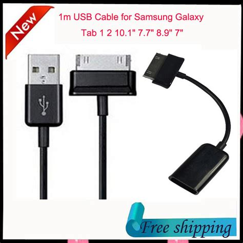 1m usb data sync charger cable otg cable adapter for samsung galaxy tab 10 1 quot 7 7 quot 8 9 quot 7 quot tab