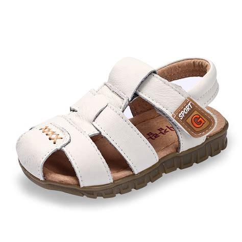 newborn boy sandals 2015 new cowhide genuine leather sandals child