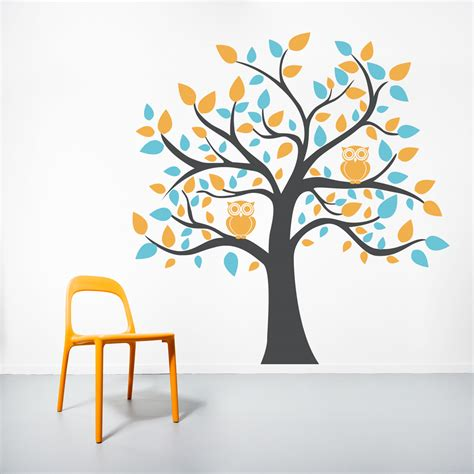 tree sticker wall decal owl tree wall decal roselawnlutheran