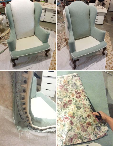 Diy Reupholster Chair by N Design Diy Reupholster A Wingback Chair