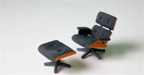 designer kevin spencer 3d prints 3d printed eames lounge chair by kevin spencer in technology home furnishings category 3d