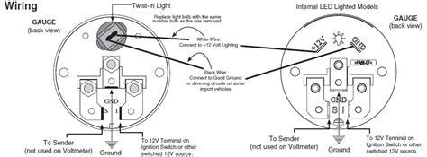 automotive voltmeter wiring diagram wiring diagram