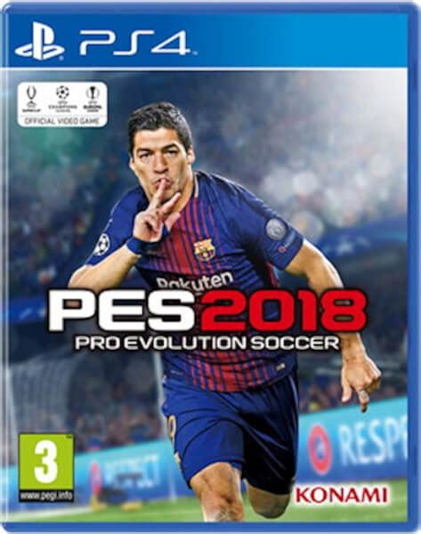 Bluray Ps4 Pes 2018 pes 2018 ps4 zavvi