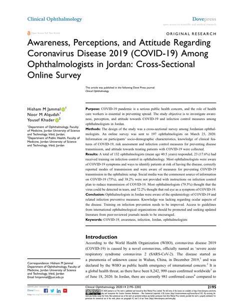(PDF) Awareness, Perceptions, and Attitude Regarding