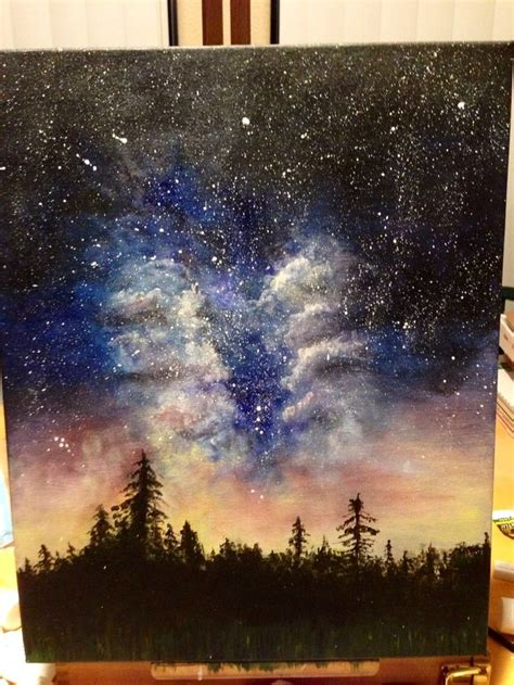 acrylic painting galaxy 1000 ideas about galaxy painting on