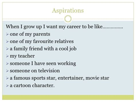 First Job Resume Example by Career Aspirations