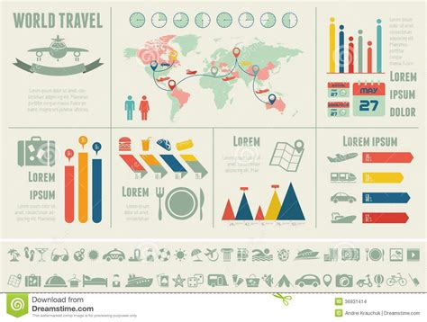 Travel Infographic Template Stock Images Image 36931414 Travel Infographic Template