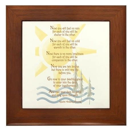 Wedding Blessing Cofe by Apache Wedding Blessing Framed Tile By Nwtradingpost