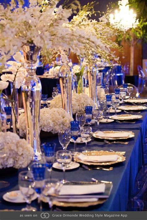 royal blue  gold wedding party decoration theme wedding