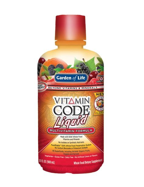 Garden Of Liquid Multivitamin Reviews Garden Of Vitamin Code Liquid Fruit Punch 30 Oz