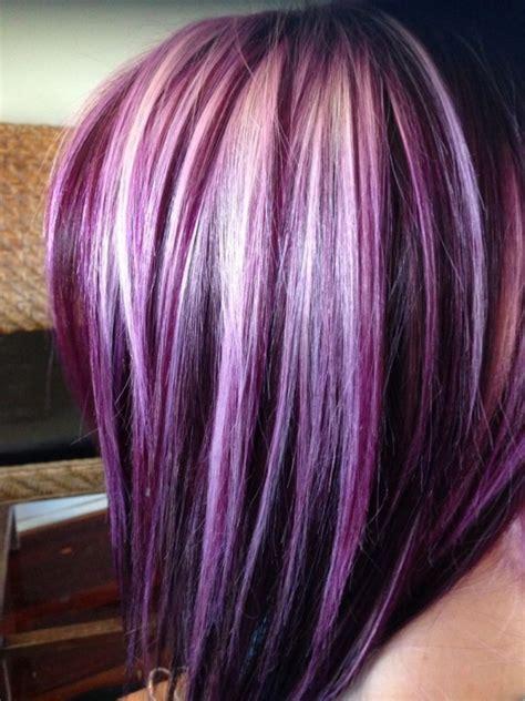 purple highlights in platinum blonde hair blonde with purple highlights www pixshark com images