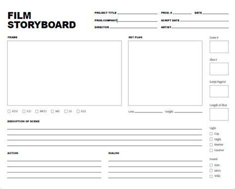 Design Storyboard Template by 7 Storyboard Templates Doc Excel Pdf Ppt