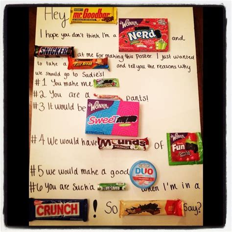 To a dance candy poster for sadie hawkins girl ask boy dance more