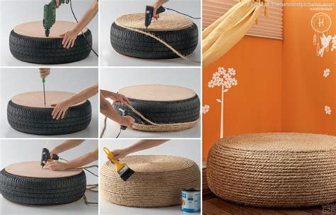 Creative Recycled Furniture Idea Turn An Old Tire Into A Recycled Furniture Ideas