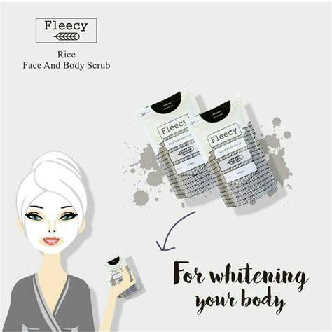 Fleecy Scrub Rice jual fleecy scrub produk scrub tubuh wajah alami bpom