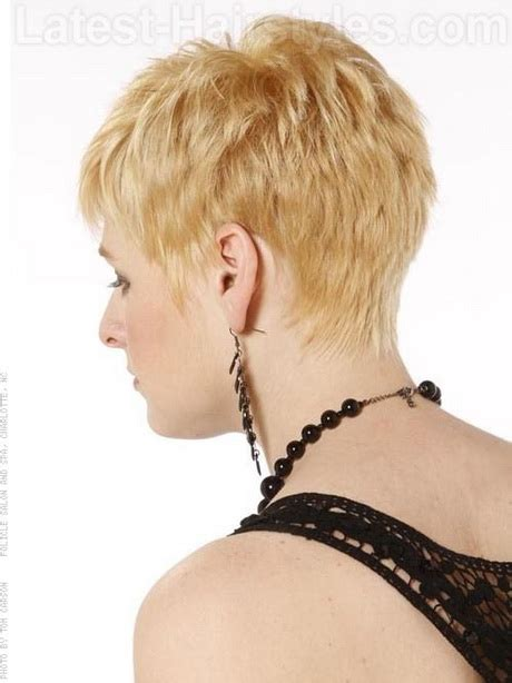 photos of the back of a haircut with a w neckline back of pixie hairstyles