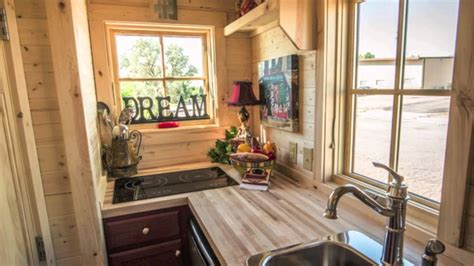 small and tiny house interior design ideas youtube 117 sq ft tumbleweed elm 18 overlook tiny house youtube