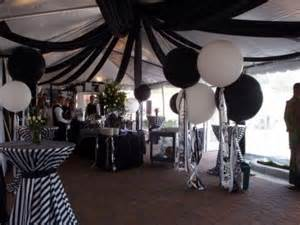 Black And White Themed Party Decorations - 50th birthday party themes