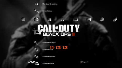 themes black ps3 th 232 me call of duty black ops 2 jeux jvl
