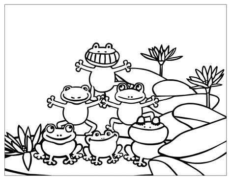 F Frog Coloring Page by Free Printable Frog Coloring Pages For