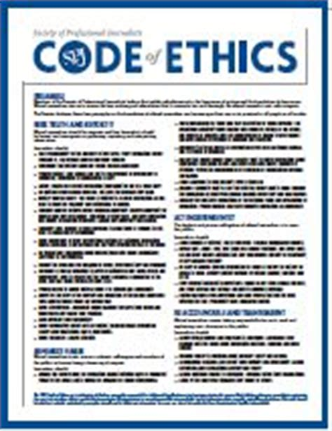 Journalism Code Of Ethics by Journalism Ethics A Casebook Of Professional Conduct For