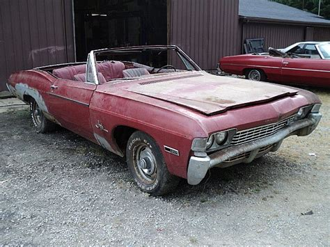 1968 chevy impala ss convertible for sale 1968 chevrolet impala ss convertible for sale creston ohio