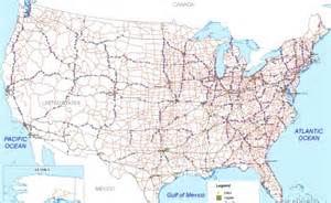 us map with driving distances us road map united states