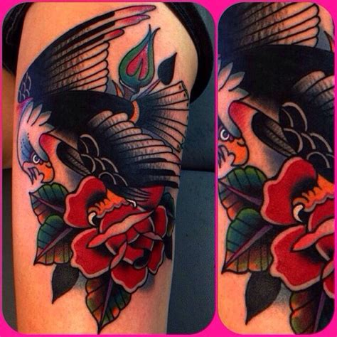 eagle tattoo with roses eagle tattoo very cool tattoo pinterest