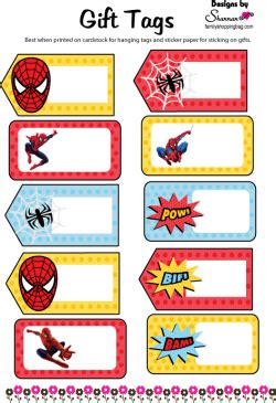 Angel Wall Stickers spider man gift tags spiderman gift tags free