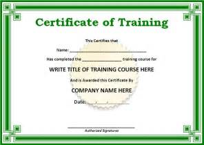 Training Certification Template Certificate Templates Free Word S Templates