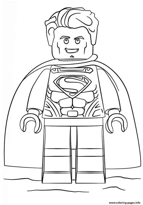 lego coloring book lego superman coloring pages printable