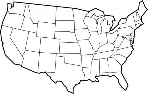 blank map usa 50 states blank map of usa my