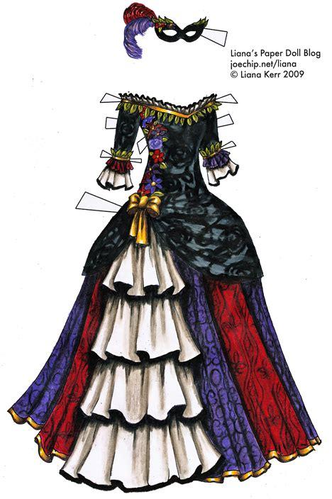 colored masquerade gown  black white purple red