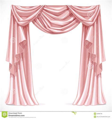 rosa vorhang rosa vorhang drapiert mit falbel vektor abbildung bild