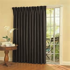 Curtain For Patio Door The Noise Reducing Patio Door Drapes Hammacher Schlemmer