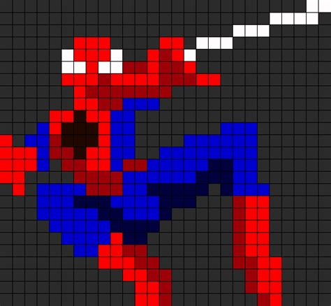 spiderman bead pattern spiderman perler bead pattern bead sprites characters