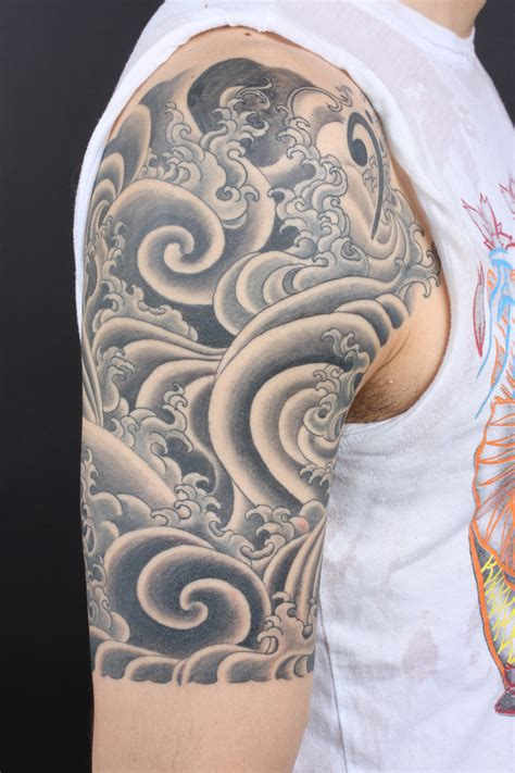 aquatic tattoos half sleeve water tattooing by yoni zilber