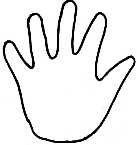kids handprint coloring page clipart best