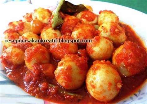 resep sambal goreng telur puyuh balado merah resep