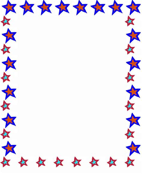 printable star frames school borders for paper clipart panda free clipart images